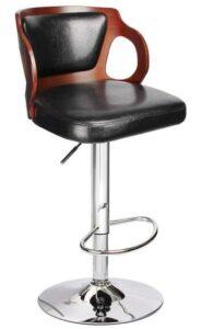 black wodden bar stools
