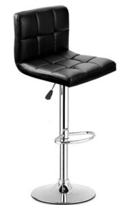 black height adjustable bar stools