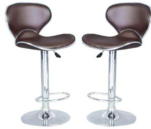 modern brown bar stools