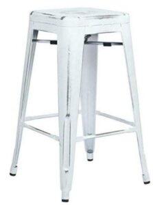 metal bar stools with hardwood floor