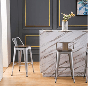 wooden kitchen bar stools
