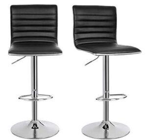 black leather breakfast bar stools