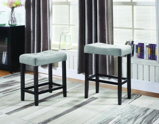 brown backless bar stools