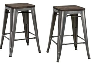 24 leather counter stools