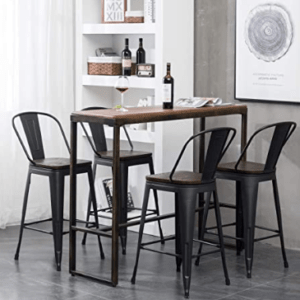 24 bar stools with back and arms