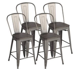 24 inch kitchen stools with backs
