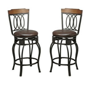 24 stool with back