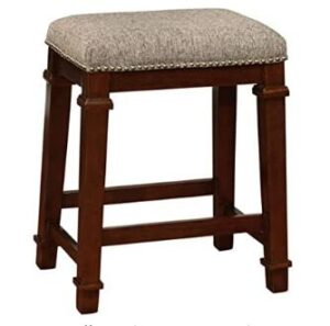 wood backless counter height bar stools