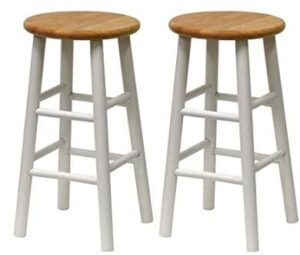 black backless stools
