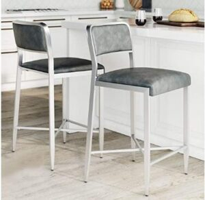24 brown leather bar stools
