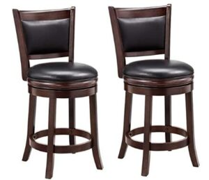 24 inch leather counter stools