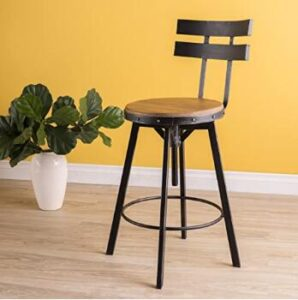 high back industrial bar stools