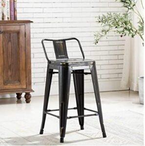 mid back industrial bar stools