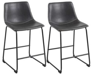 leather industrial bar stools