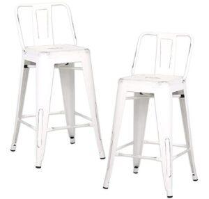 mid back square bar stools