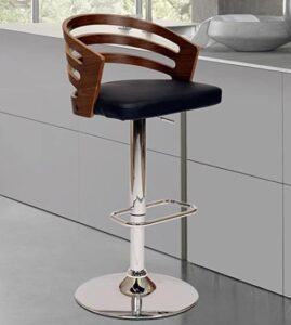 Armen Living adjustable bar stools with back and arm