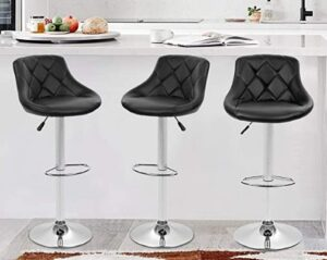 BestOffice adjustable bar stools with back