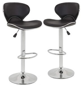 BestOffice adjustable bar stools with back for bars