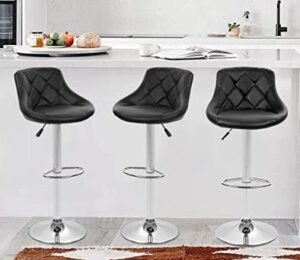 BestOffice adjustable chrome bar & counter height stool