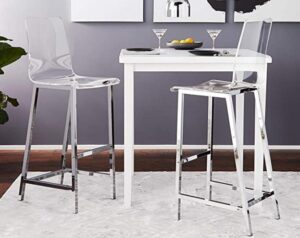 clear acrylic bar stool heavy duty with backrest
