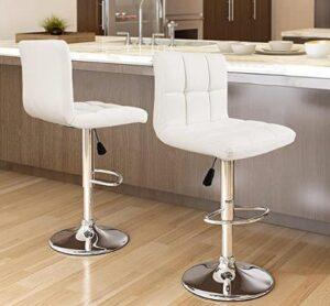 Furmax adjustable bar stools with back