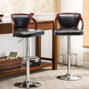 Homall adjustable bar stools with back