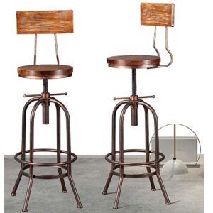 wooden Industrial Bar Stools