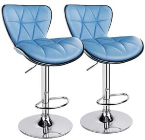 Leopard adjustable counter height stools padded seat