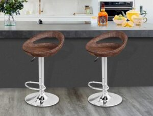 Nova Microdermabrasion adjustable bar stools with back