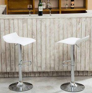 Puluomis adjustable chrome bar stools
