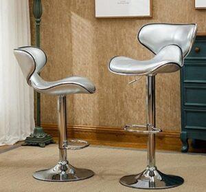 Roundhill adjustable chrome bar stool