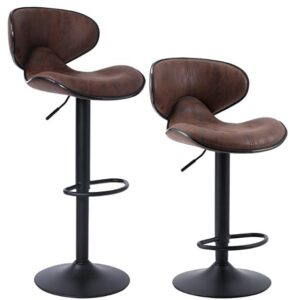 Superjare adjustable bar stools with back