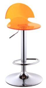 orange acrylic adjustable car stool