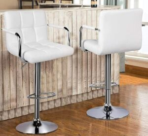 YAHEETECH bar stools with backs and arms