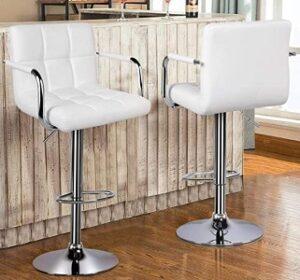 YAHEETECH adjustable bar stool chrome base