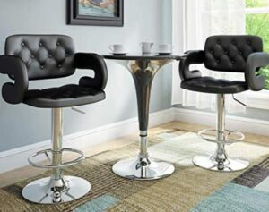 adjustable bar stool with back and arm