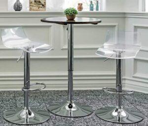 acrylic bar stool adjustable height swivel