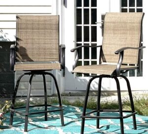 bar stool indoor outdoor adjustable with armrest