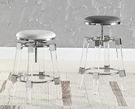 Milan acrylic adjustable bar stool