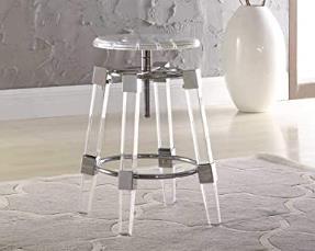milan shea acrylic adjustable bar stools