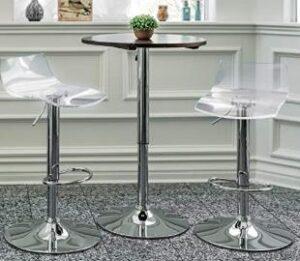 vogue acrylic adjustable bar stool