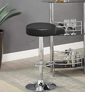 Black Adjustable Stool