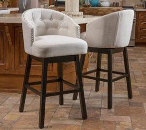 comfortable fabric bar stool