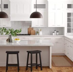 black wooden counter height stools