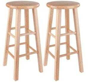 wooden high bar stools