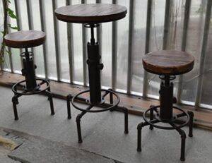 white antique bar stools