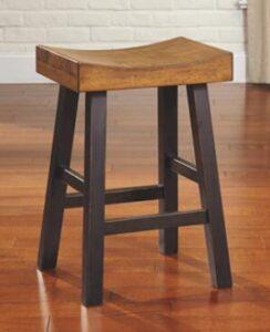 ashley bar stools leather