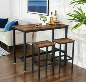 wooden bar stools with metal legs