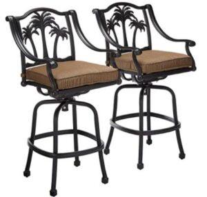middle height aluminium bar stools