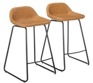 high leather seat counter chairs